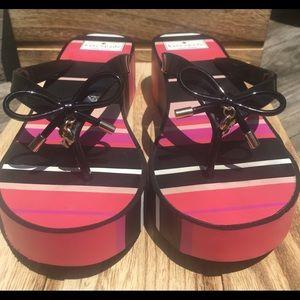 Kate Spade Rhett Wedge Flip Flop Sandals Sandels 9